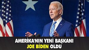 Amerika'nın yeni başkanı Joe Biden oldu