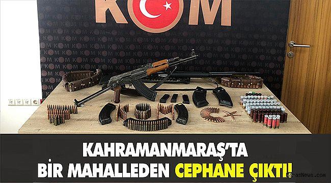 Kahramanmaraş'ta bir mahalleden cephane çıktı!