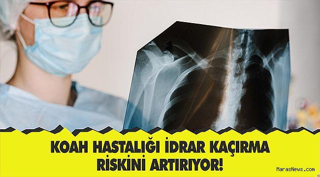 KOAH Hastalığı idrar kaçırma riskini artırıyor!
