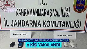 Pazarcık'ta uyuşturucu operasyonu! 2 kişi yakalandı