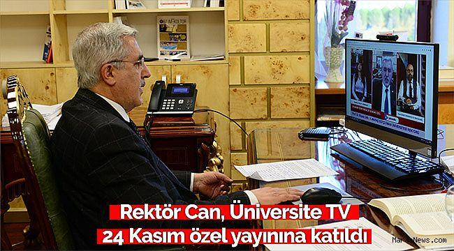 Rektör Can, Üniversite TV 24 Kasım Öğretmenler günü özel yayınına katıldı