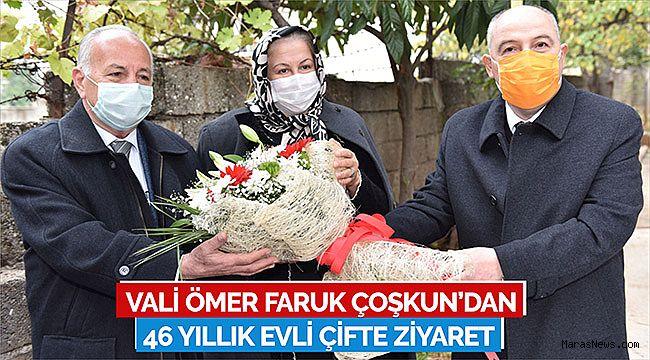 Vali Ömer Faruk Çoşkun'dan 46 Yıllık Evli Çifte Ziyaret