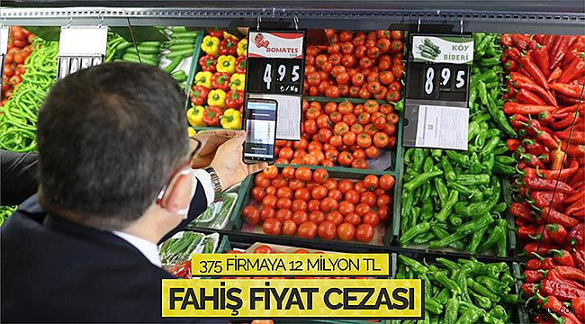 375 firmaya 12 milyon TL fahiş fiyat cezası