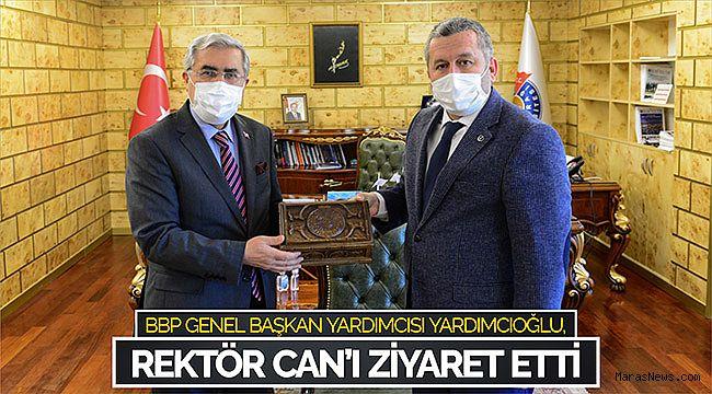 BBP Genel Başkan Yardımcısı Yardımcıoğlu, Rektör Can'ı Ziyaret Etti