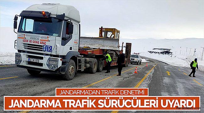 Jandarma trafik sürücüleri uyardı