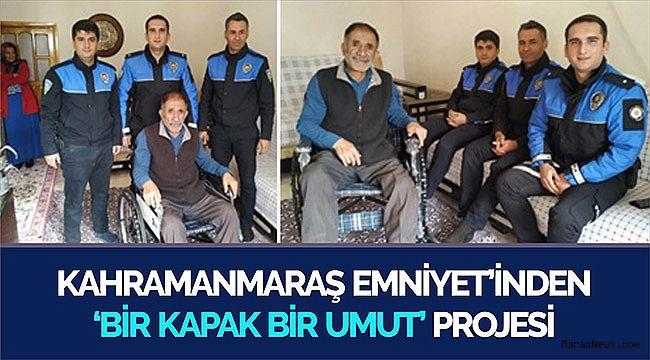 Kahramanmaraş Emniyet'inden 'Bir Kapak Bir Umut' projesi