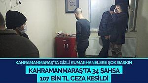 Kahramanmaraş'ta gizli kumarhanelere şok baskın