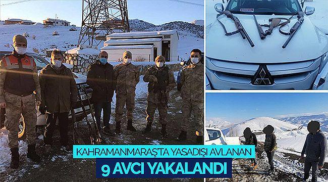 Kahramanmaraş'ta yasadışı avlanan 9 avcı yakalandı