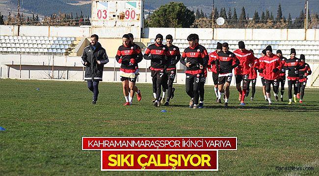 Kahramanmaraşspor ikinci yarıya sıkı çalışıyor