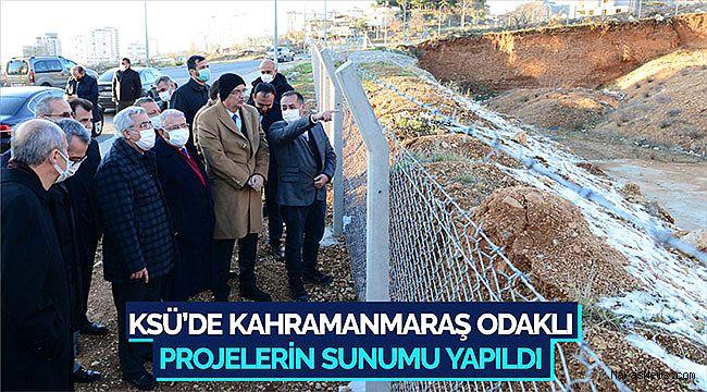 KSÜ'de Kahramanmaraş Odaklı Projelerin sunumu yapıldı