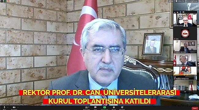 Rektör Prof. Dr. Niyazi Can, Üniversitelerarası Kurul Toplantısına Katıldı