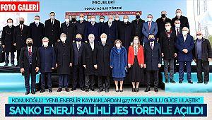 Sanko Enerji Salihli JES törenle açıldı