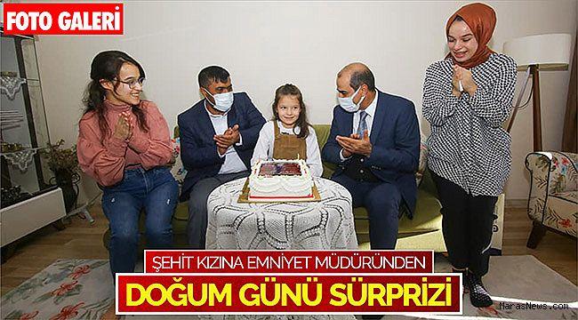 Şehit kızına emniyet müdüründen doğum günü sürprizi