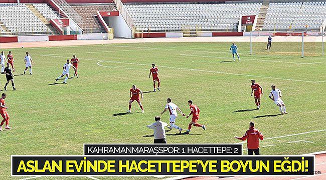 Aslan evinde Hacettepe'ye boyun eğdi!