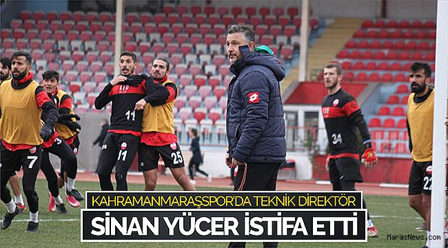 Kahramanmaraşspor'da teknik direktör Sinan Yücer istifa etti