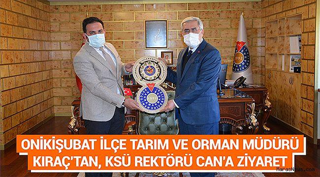 Onikişubat İlçe Tarım ve Orman Müdürü Kıraç'tan, KSÜ Rektörü Can'a Ziyaret