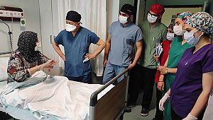 Karnından 9 Kilo 600 gram tümör çıkarıldı