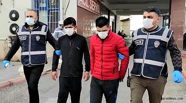 Öğrenci yurdunun musluklarını çalan 2 kişi tutuklandı