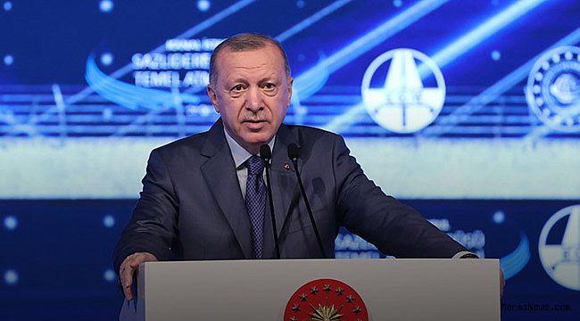"""Cumhurbaşkanı Erdoğan: """"Kanal İstanbul, ülkemizin en önemli değerlerinden biri olarak tarihteki yerini alacaktır"""""""