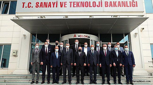 Kahramanmaraş'ın sorun ve talepleri Bakan Mustafa Varank'a sunuldu
