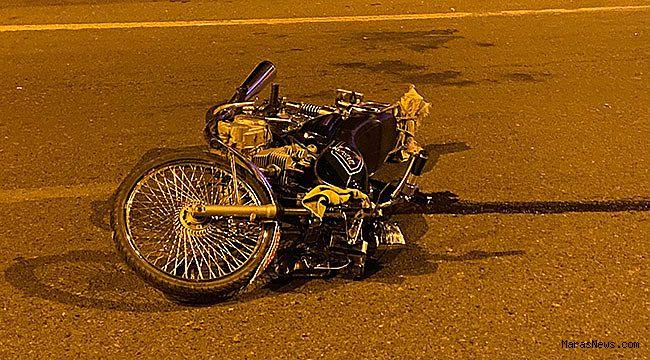 Kahramanmaraş'ta motosiklet sürücüsü ağır yaralandı