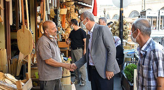 Başkan Okay'dan Demirciler Çarşısı Esnafına Ziyaret