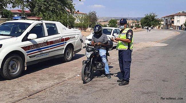 Kahramanmaraş'ta motosiklet sürücülerine eş zamanlı denetim
