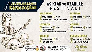 I. Uluslararası Karacaoğlan Aşıklar ve Ozanlar Festivali Başlıyor