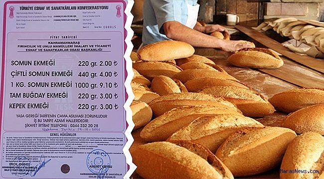 Kahramanmaraş'ta ekmeğe yüzde 33 zam!
