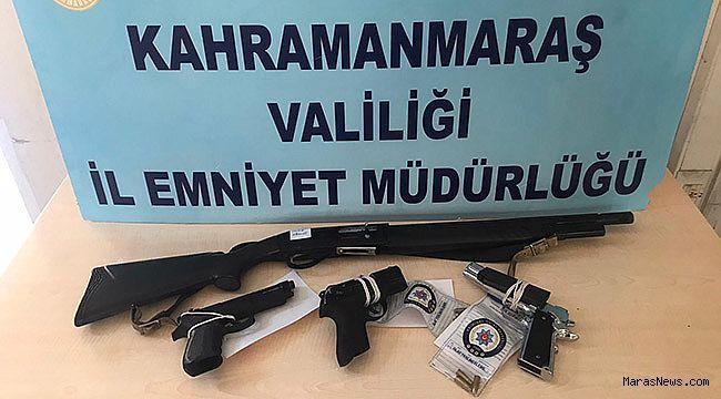 Kahramanmaraş'ta yasa dışı silah kullanan 6 kişi yakalandı