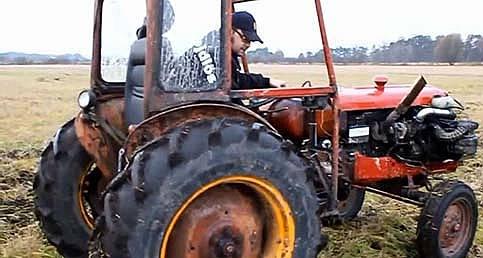 Traktöre Ferrari motoru takılırsa ne olur